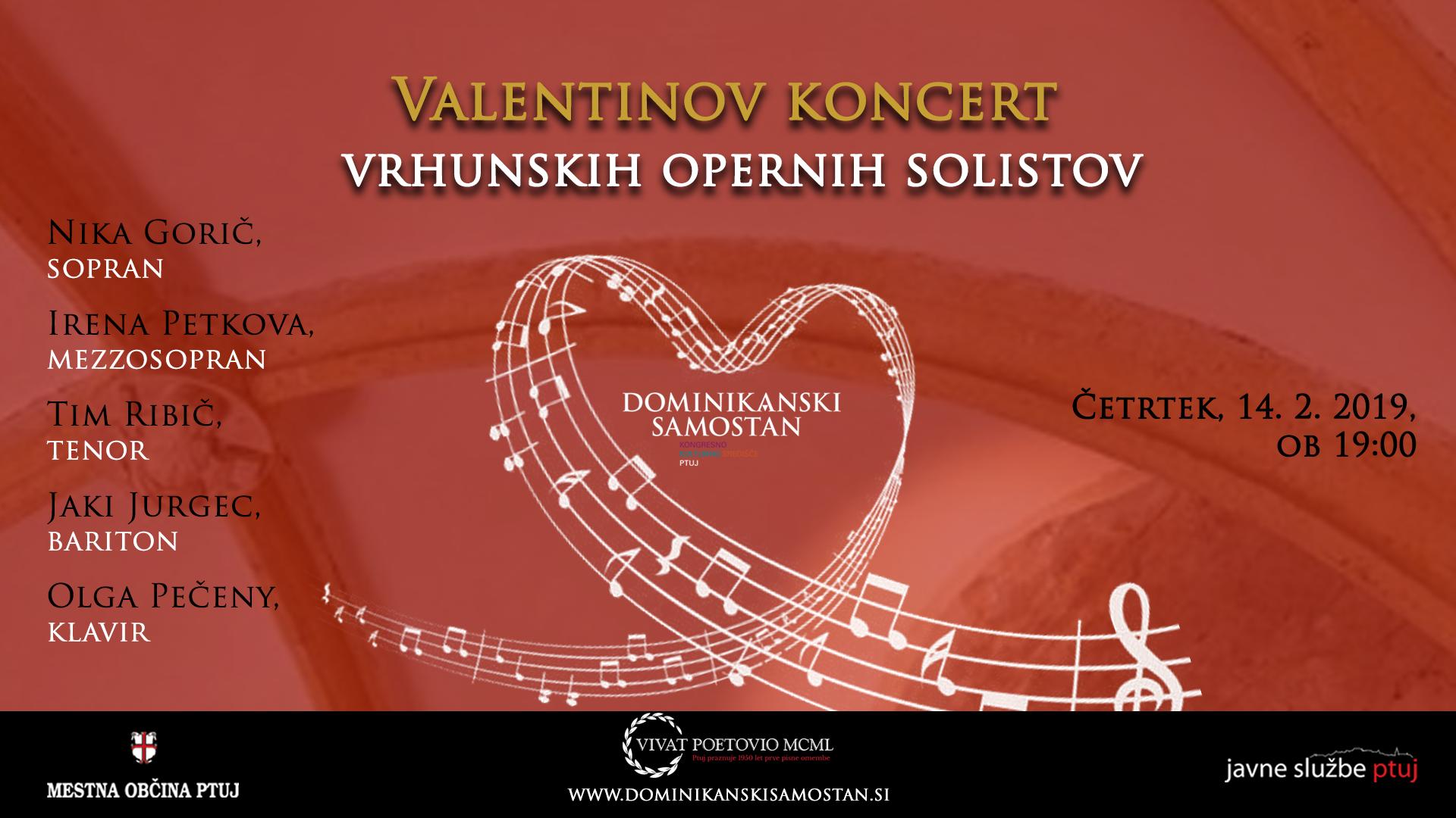 Valentinov Koncert Vrhunskih Opernih Solistov Dominikanski Samostan Ptuj